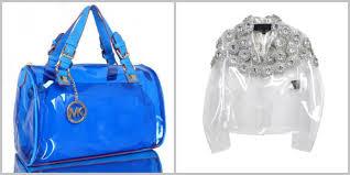 Capi Accessori Plexiglass Pvc Tendenza Abbigliamento 2014