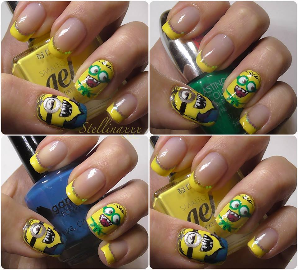 Tutorial Nail Art Minions Stellinaxxx Giallo Colori Smalti 2015