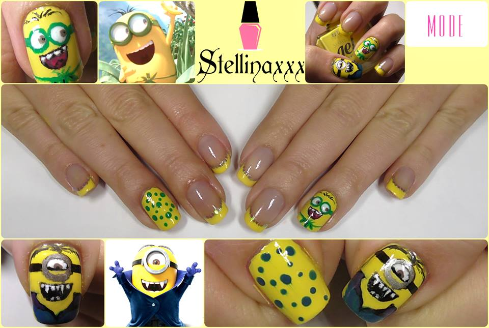 Tutorial Nail Art Minions Stellinaxxx Giallo Colori Smalti
