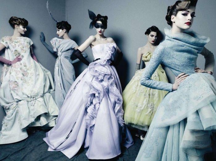 """Una delle ambientazioni scelte da Patrick Demarchelier per """"Dior NEw Couture"""""""