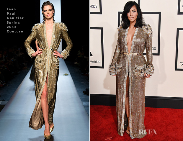 Kim-Kardashian-In-Jean-Paul-Gaultier-Couture-2015-Grammy-Awards