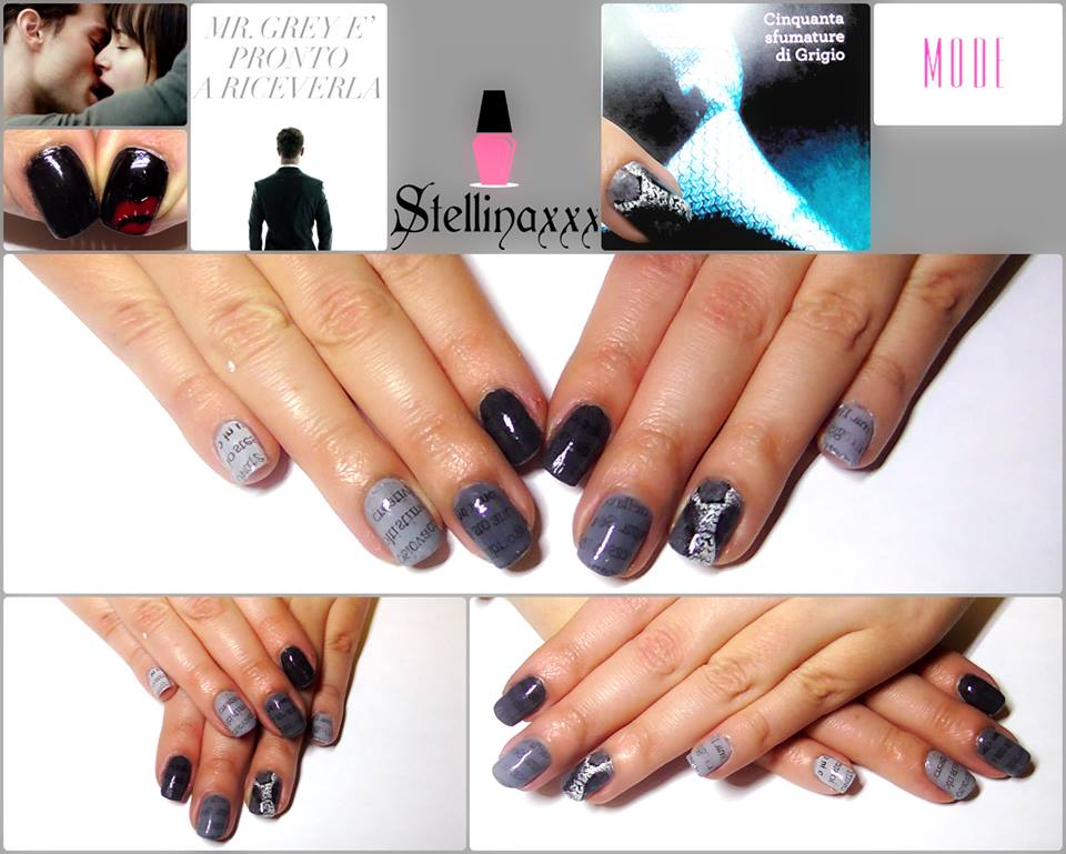 Tutorial Nail Art 50 Sfumature Grigio Youtube Stellina