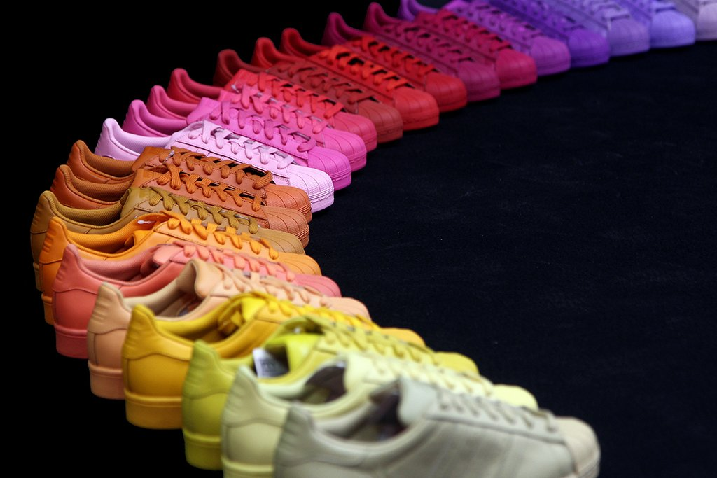 Adidas Originals Superstar Supercolor Pharell Williams Scarpe Tonalità