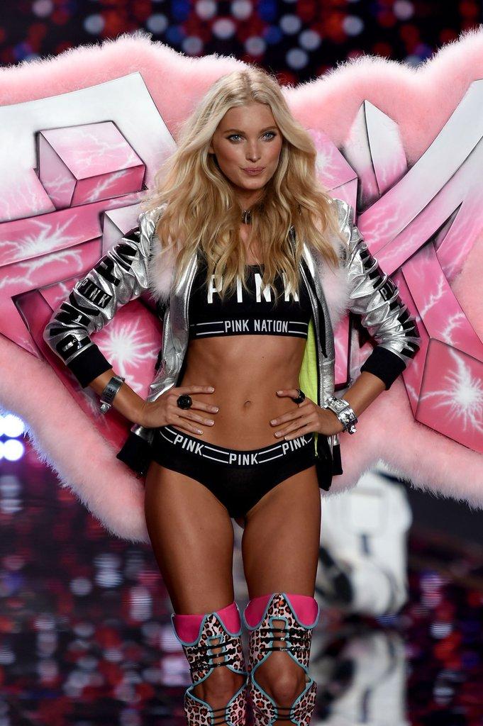 Elsa Hosk da Victoria's Secret Nuovo Angelo Brand Intimo America Stati Uniti Usa Modella Svedese Pink Nation