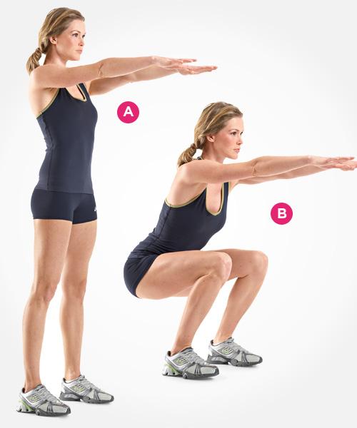 Gambe Toniche Squat Esercizio Sedia Muro Sollevamenti Pesi