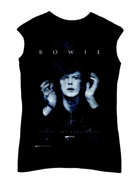 Gas Per David Bowie T-Shirt Limited Edition Mostra Bologna Heroes Album 2015