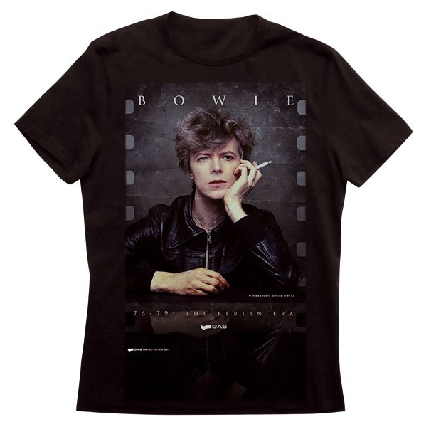 Gas Per David Bowie T-Shirt Limited Edition Mostra Bologna Heroes Album Musica