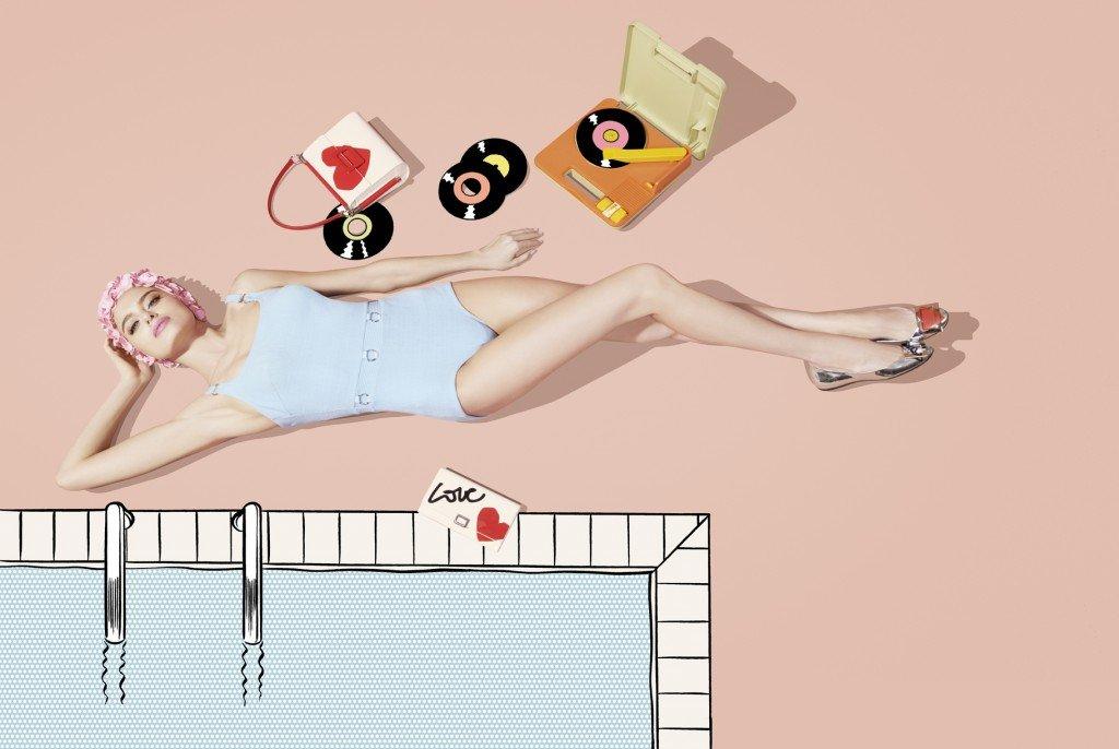 Mademoiselle Viviver Icona Brand Roy Lichtestein Fumetto Borse Scarpe Accessori Collezione PE Super