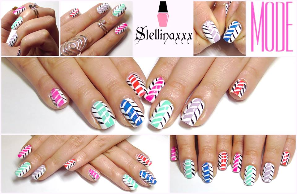 Nail Art Tutorial Zig Zag Multicolor