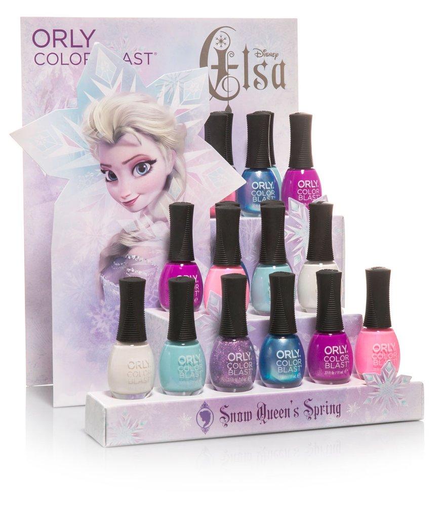 Orly Italia Color Blast Elsa Anna Frozen Nail Art Manicure Collezioni Edizione Limitata