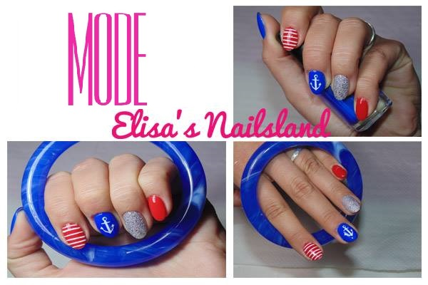 Tutorial Nail Art Nautica Elisa's Nailsland Elisa d'Ascenzi Video Youtube Unghie Trend Mare Ancora Colori