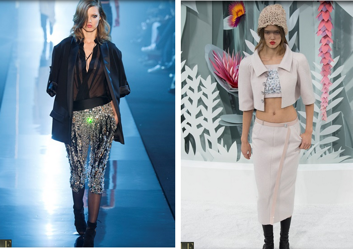 Da sinistra: Vauthier S/S 2015; Chanel S/S 2015