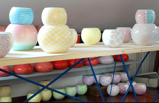 Vasi in ceramica di Ludek Design per Luisa Beccaria