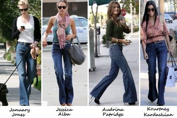 pantaloni-a-zampa-jeans-stars