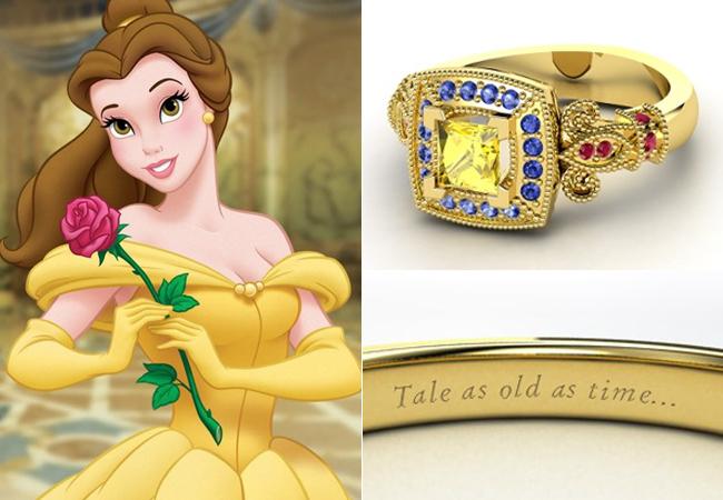 Anelli Principesse Disney Fidanzamento Sogno Belle