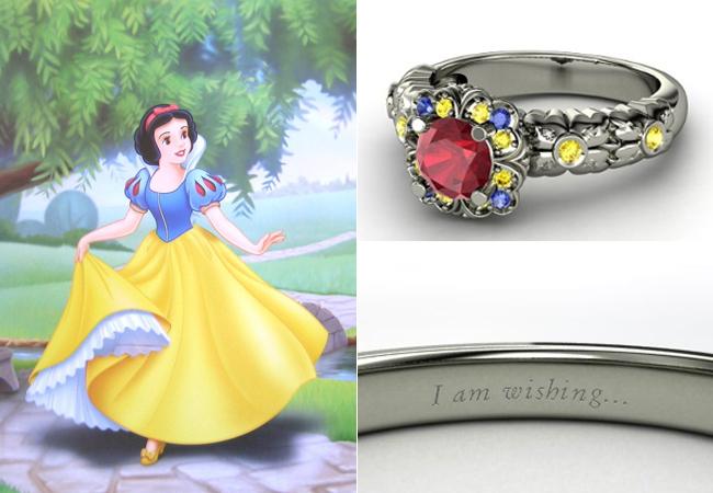 Anelli Principesse Disney Fidanzamento Sogno Biancaneve