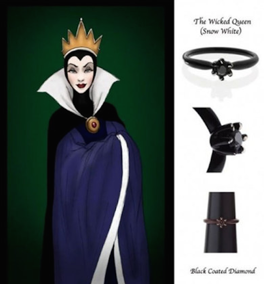 Anelli Principesse Disney Fidanzamento Sogno Grimilde