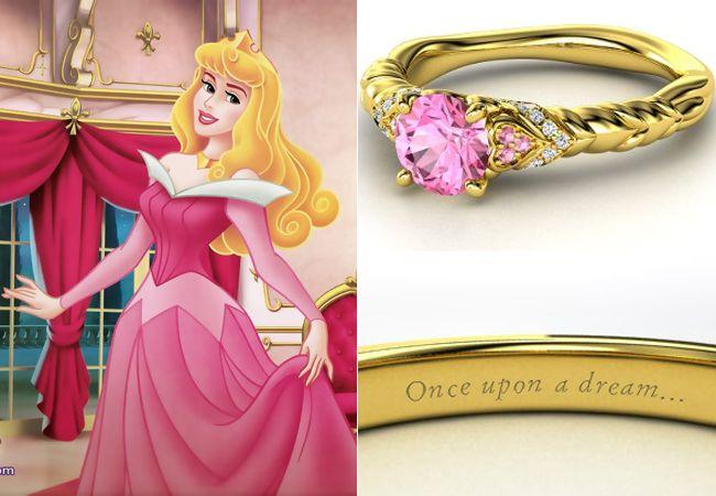 Anelli Principesse Disney Fidanzamento Sogno La Bella Addormentata
