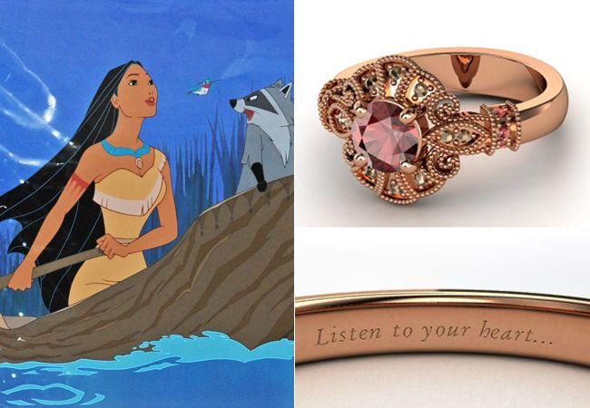 Anelli Principesse Disney Fidanzamento Sogno Pocahontas