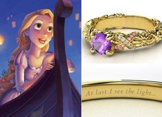 Anelli Principesse Disney Fidanzamento Sogno Rapunzel