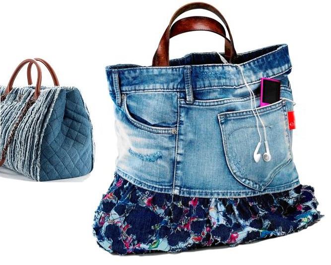 fare una borsa con i jeans