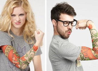 Fake Sleeve Tattoo Finte Maniche Tattoo Uomo Donna Braccia