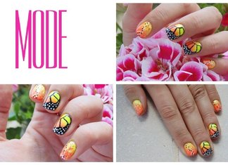 Tutorial Nail Art Farfalla Monarca Smalti Fluo Glam Lac Elisa d'Ascenzi Youtube