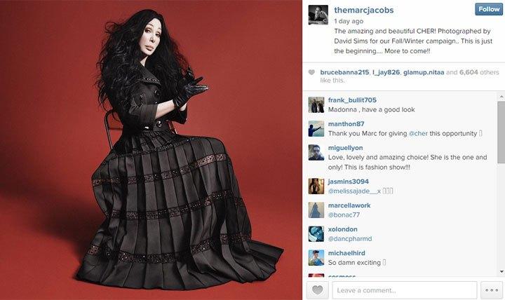 cher per marc jacobs instagram