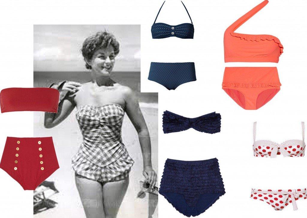 Costume da bagno vintage tornano gli anni 39 50 - Costumi da bagno stock ...