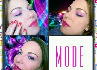 tutorial make up pop summer look