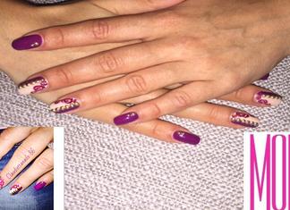 TUTORIAL Nail Art Studs 'n Roses Claudia Lani Youtuber Borchie Oro Pupa Manicure