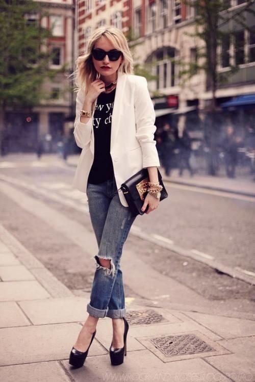 blazer-blanc