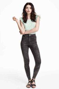 Jeans vita alta grigio
