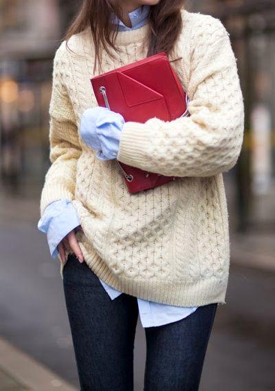 Maxi maglione con slim