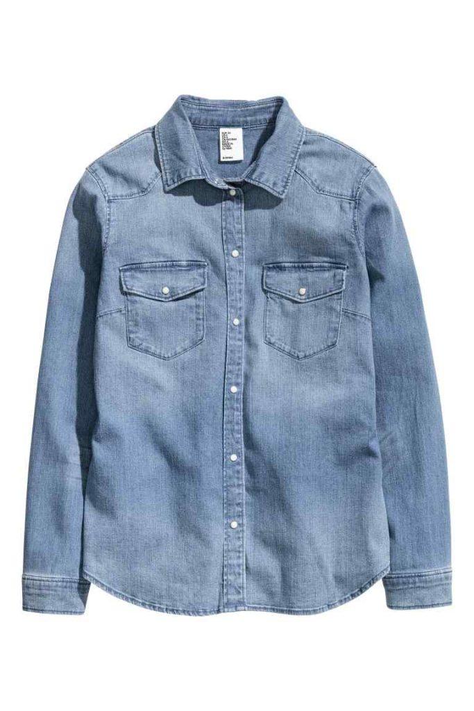camicia jeans h&m
