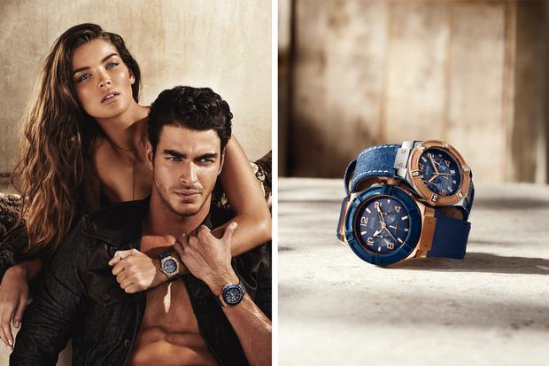 Guess Watches Denim Collezione Orologi 2014 Uomo Donna Jeans Testimonial