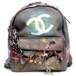 Zaino Chanel Effetto Used Graffiti Karl Lagerfeld Collezione Accessori