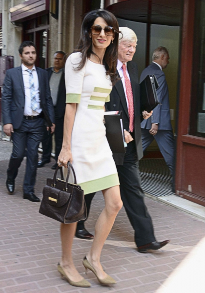 Amal Bag Ballin Signora Clooney Alamuddin Avvocato Diritto Borsa Personalizzabile Brand 2015