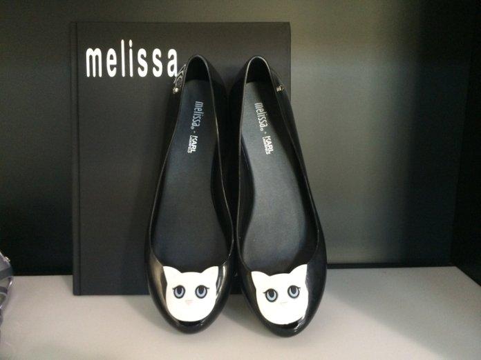 Karl Lagerfeld per Melissa Scarpe Pvc Plastica Brand Collezione Primavera Estate 2015 Gatto Choupette Ballerine Marchio