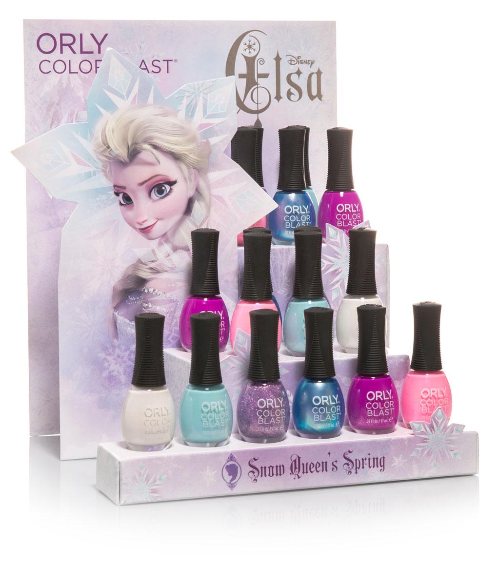 Orly Italia Color Blast Elsa Anna Frozen Nail Art Manicure Collezioni Edizione Limitata 2015