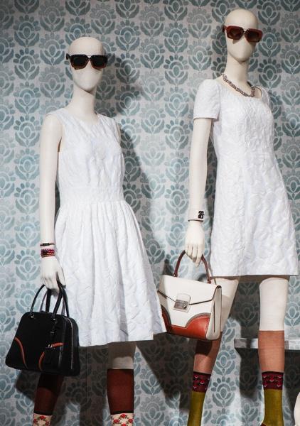 total white collection prada