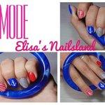 Tutorial Nail Art Nautica Elisa's Nailsland Elisa d'Ascenzi Video Youtube Unghie Trend Mare Ancora Colori