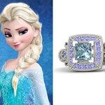 Anelli Principesse Disney Fidanzamento Sogno Elsa Frozen