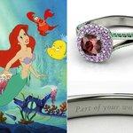 Anelli Principesse Disney Fidanzamento Sogno Sirenetta