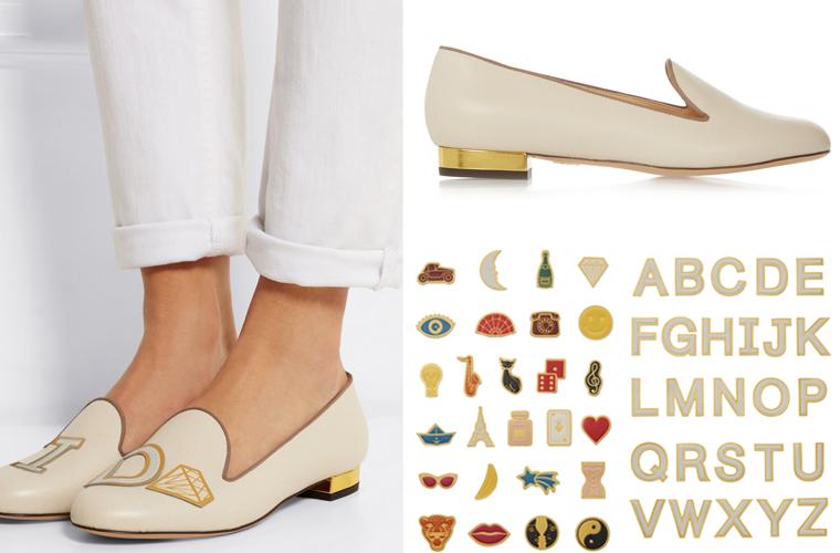 Charlotte Olympia ABC Collezione Scarpe Mocassini 2015 Personalizzazione