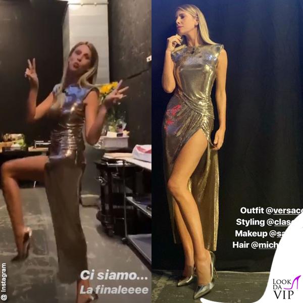 Marcuzzi Backstage Calendario.Alessia Marcuzzi Isola Finale Vestito Versace Backstage 2 Mode